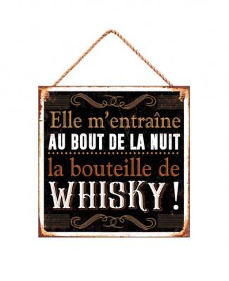 """Plaque """"La bouteille de whisky"""""""