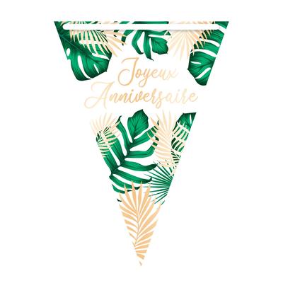 Guirlande Fanions Joyeux Anniversaire Jungle