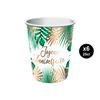 6 gobelets joyeux anniversaire jungle