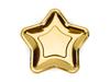 6 assiettes étoile dorée