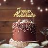 Décoration de Gâteau Joyeux Anniversaire Doré