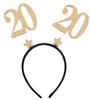 Serre tête anniversaire doré âge au choix